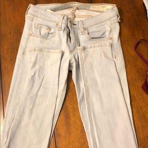 Rag & Bone light denim skinny jean